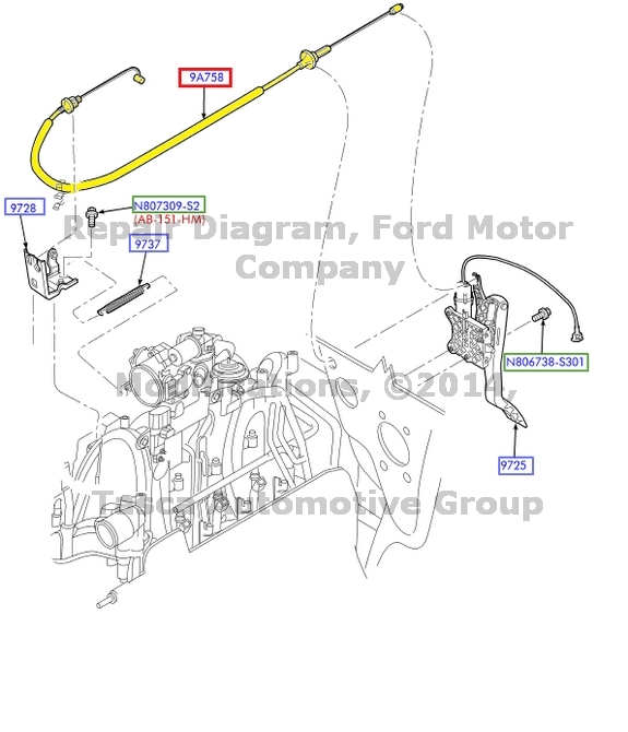 BRAND NEW OEM THROTTLE CONTROL CABLE FORD 1999-2004 F150