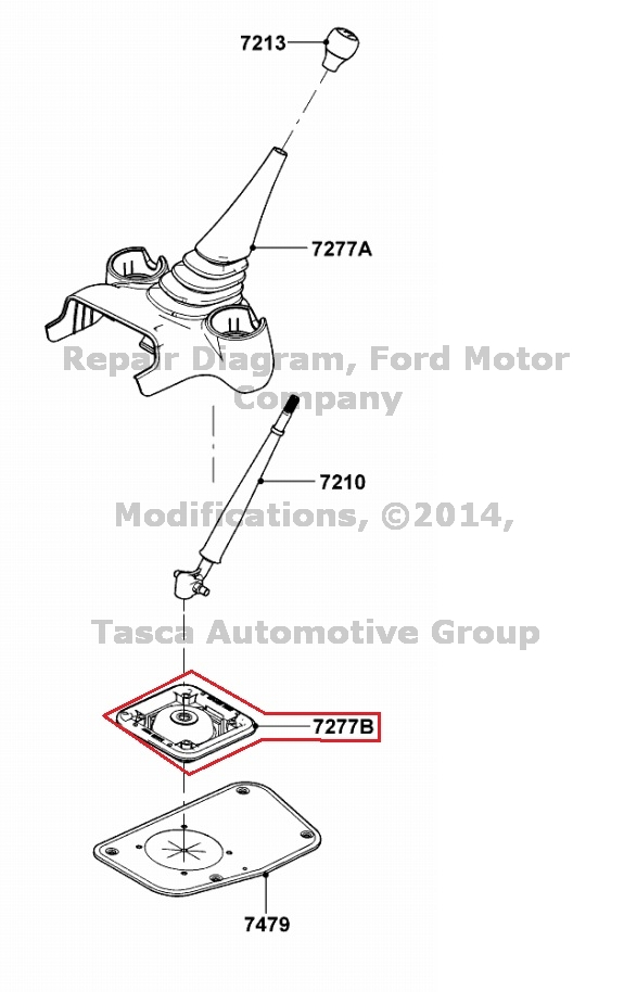 2004-11 Ford Ranger 5 Speed Manual Transmission Gear Shift