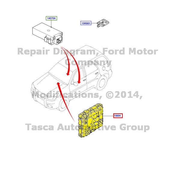 NEW OEM ENGINE COMPARTMENT SMART JUNCTION BOX 2006 FORD