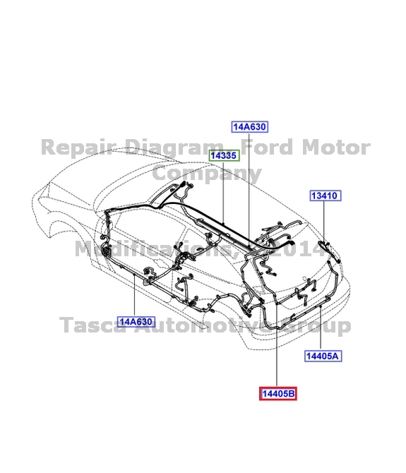 NEW OEM REAR DECKLID LIGHT WIRING HARNESS 2006-2007 FORD