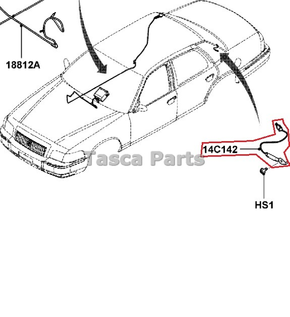 NEW OEM ANTENNA COIL WIRE 2006-2011 FORD CROWN VICTORIA
