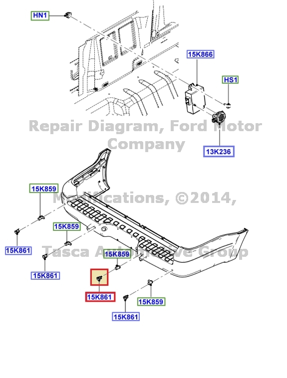 OEM LEFT SIDE INNER PARKING AID SENSOR BRACKET 2007-10