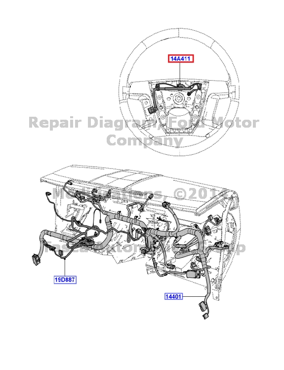 genuine ford 2006 fusion milan zephyr wiring diagrams fcs1429906