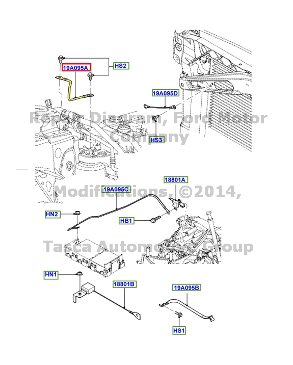 NEW OEM RADIO EARTH WIRE WIRING HARNESS 2007-12 FUSION