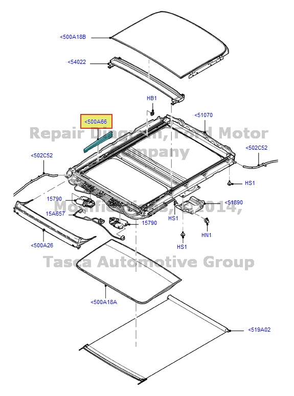 BRAND NEW OEM SLIDING SUN ROOF WIRE ASSEMBLY 2013 ESCAPE