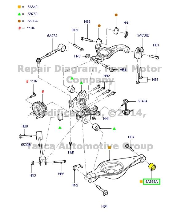 BRAND NEW OEM REAR LH/RH SIDE KNUCKLE & ARM BUSHING 2009