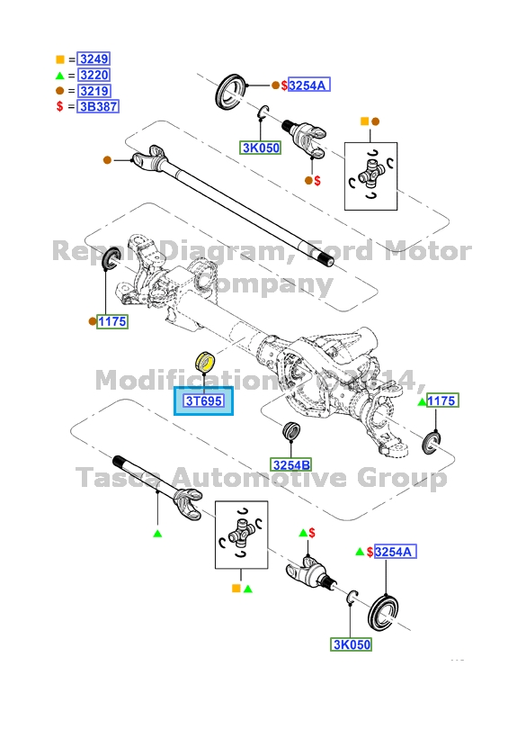 BRAND NEW OEM FRONT AXLE GUIDE 2008-13 FORD F450 F550 SD