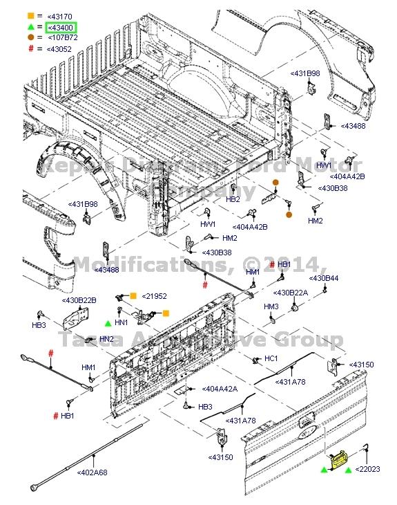 OEM BLACK TAILGATE HANDLE FORD F150 F250 F350 F450 F550