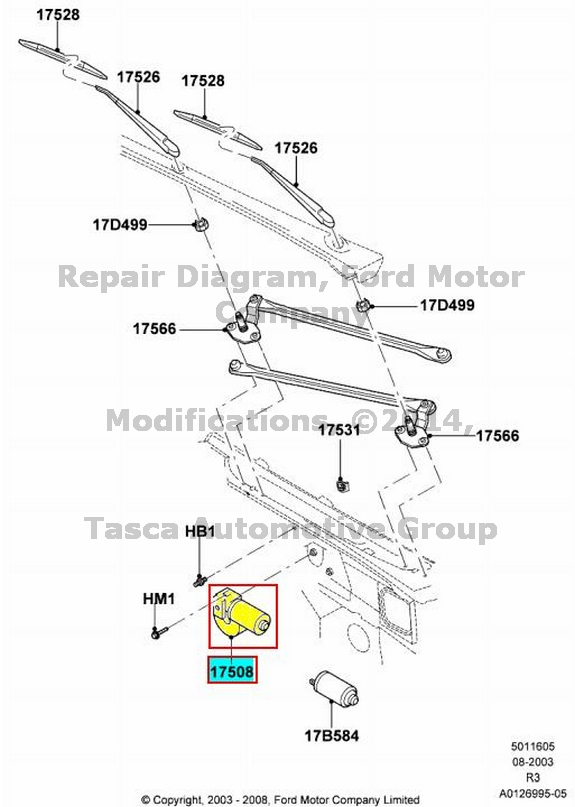 NEW OEM WINDSHIELD WIPER MOTOR 2008-2011 FORD RANGER