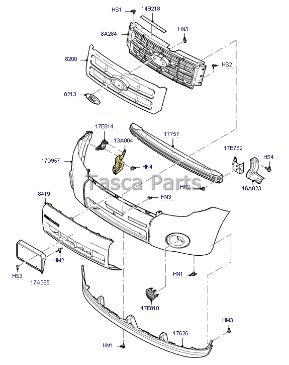 NEW OEM LH DRIVERS SIDE GRILLE BRACKET 2008-2012 FORD