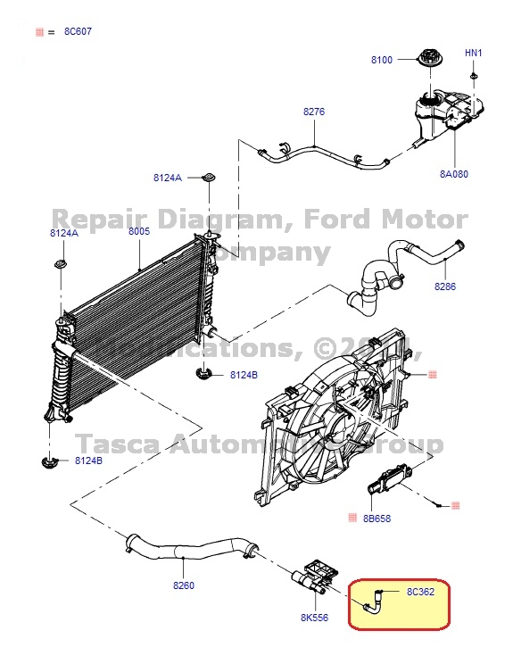 BRAND NEW OEM HOSE ASSEMBLY FORD LINCOLN MERCURY VEHICLES