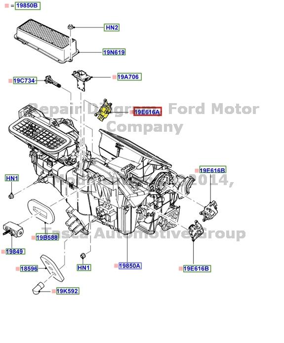 Ford Fiesta Blend Door Actuator FORD FIESTA BLEND DOOR