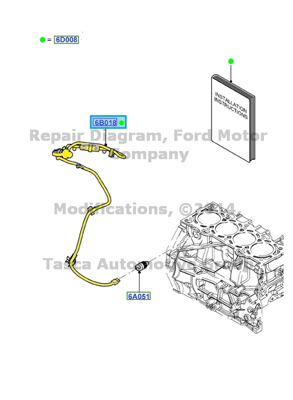 NEW OEM 2.0L ENGINE BLOCK HEATER 2008-2014 FORD FOCUS