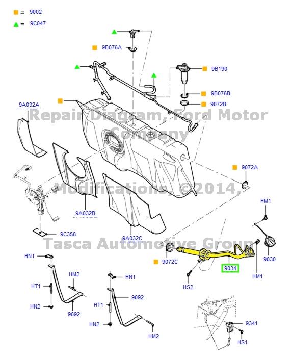 Lincoln Ford OEM 05-11 Town Car 4.6l Fuel Tank-filler Neck