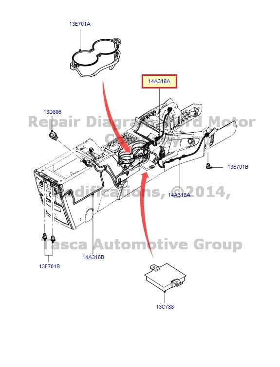 NEW OEM AMBIENT LIGHTING ACCESSORY FEED WIRE 2009-2013