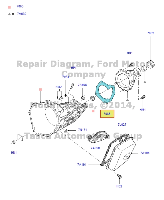NEW OEM 4R70W 2WD 4 SPEED AUTOMATIC TRANSMISSION CASE