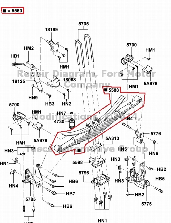 BRAND NEW OEM REAR LEAF SPRING 2009 2011-2013 FORD F550