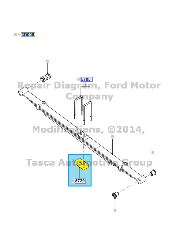 BRAND NEW OEM ACCESSORY CHASSIS SPACER 2009-14 FORD F150