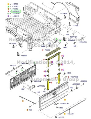 BRAND NEW OEM REAR TAILGATE STEP KIT 20092010 FORD F150
