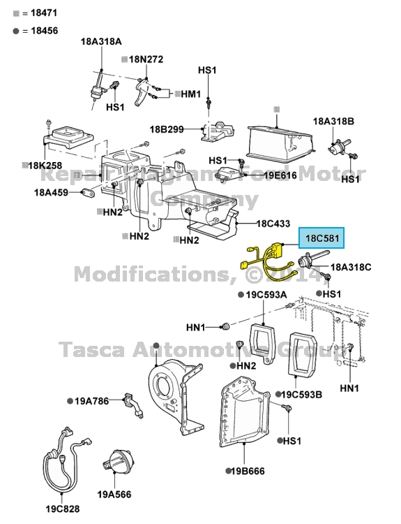 NEW OEM HEATER & AC 5 VACUUM LINE WIRING HARNESS FORD