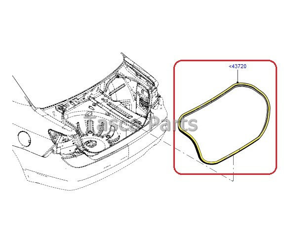 BRAND NEW OEM TRUNK WEATHER STRIP 2010-2013 FORD FUSION #