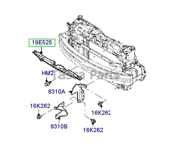 Marca nuevo OEM Delantero Radiador Deflector de aire 2011