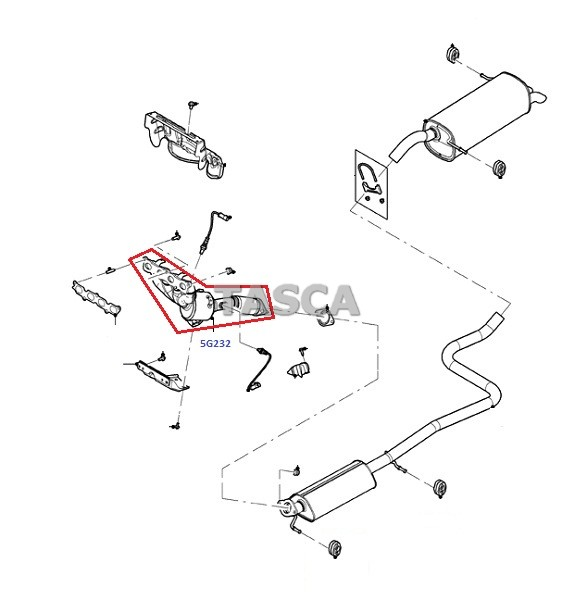 OEM EXHAUST MANIFOLD AND CATALYST ASSEMBLY 2011-2013 FORD