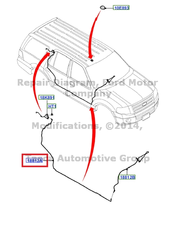 NEW OEM ANTENNA BODY EXTENSION CABLE 2007-2015 FORD