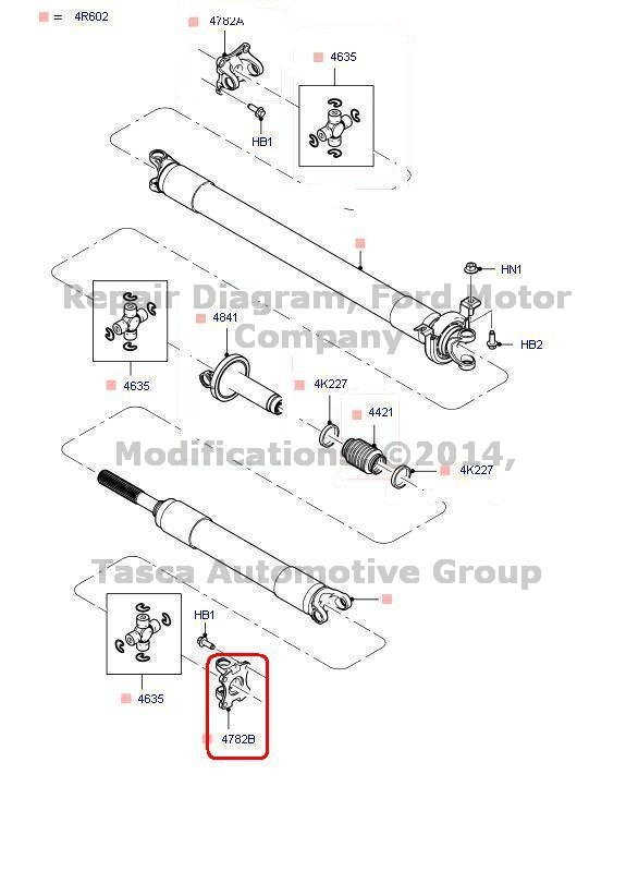 Drive shaft vibration ford escape