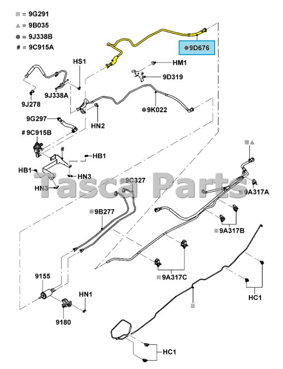 NEW OEM FUEL VAPOR TUBE 2010-2011 FORD RANGER WITH 2.3L I4