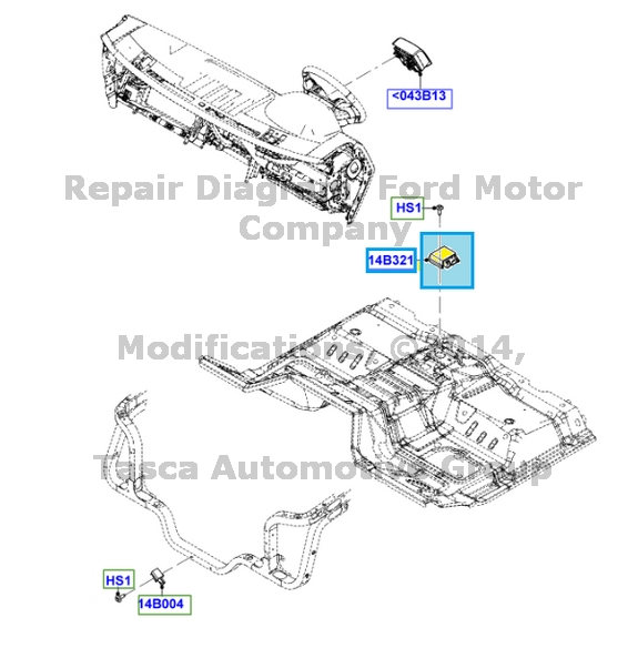 BRAND NEW OEM AIR BAG SENSOR 2011-2012 FORD F250 F350 F450