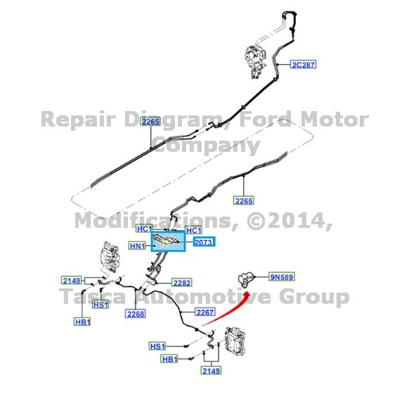 BRAND NEW OEM REAR BRAKE LINE BRACKET 2011-2013 FORD F250