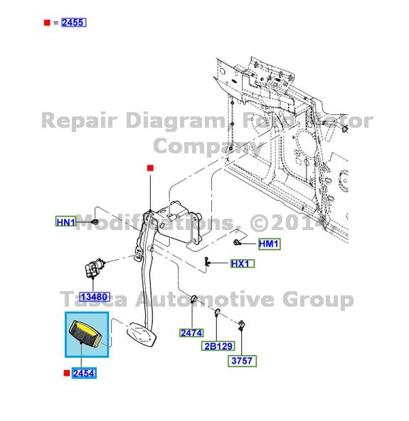 NEW OEM BRAKE PEDAL PAD 2011-2013 FORD F250 F350 F450 F550