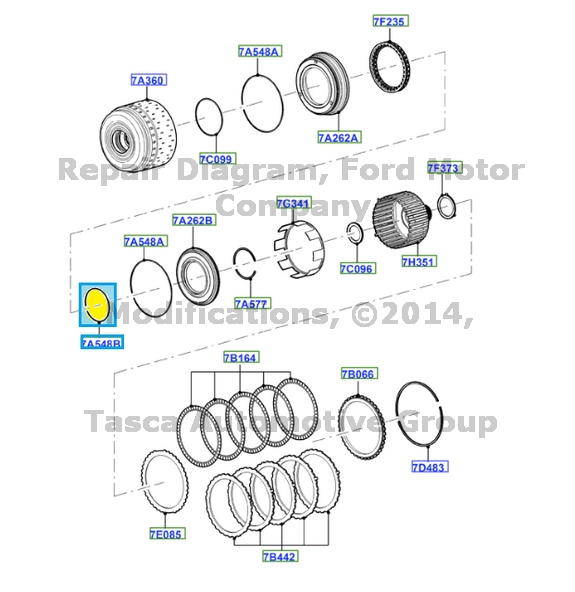 NEW OEM AUTOMATIC TRANSMISSION DIRECT CLUTCH SEAL FORD