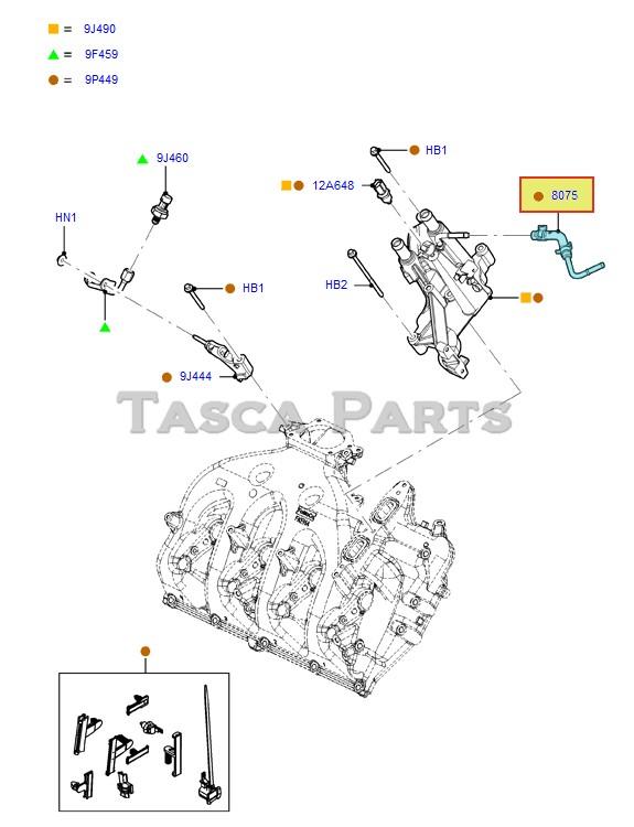 NEW OEM EGR OVERFLOW HOSE 6.7L V8 T/C DIESEL 2011-2013