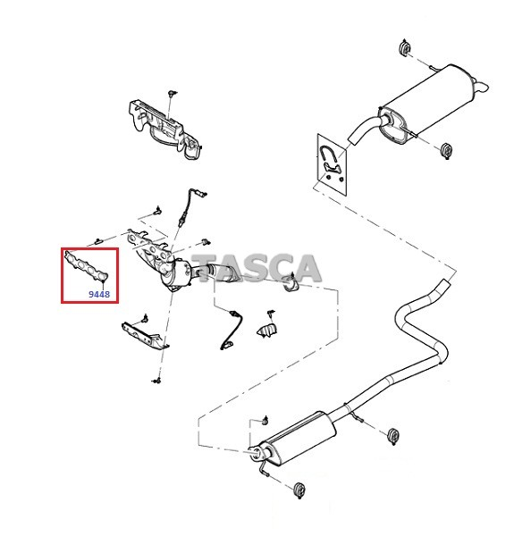 Ford Fiesta Exhaust System Diagram