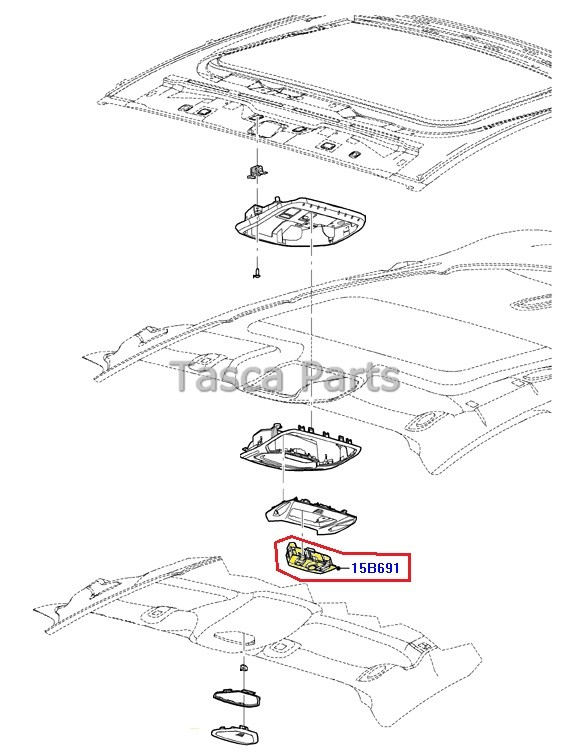 NEW OEM OVERHEAD CONSOLE SWITCH ASSEMBLY 2012-2013 FORD