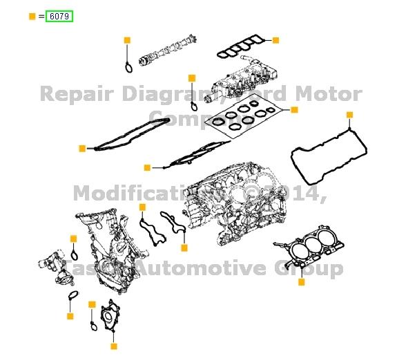 BRAND NEW OEM 3.7L DOHC 4V V6 ENGINE GASKET KIT 2011-2012