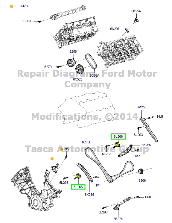 NEW OEM PRIMARY TIMING CHAIN TENSIONER 2011-2013 FORD F