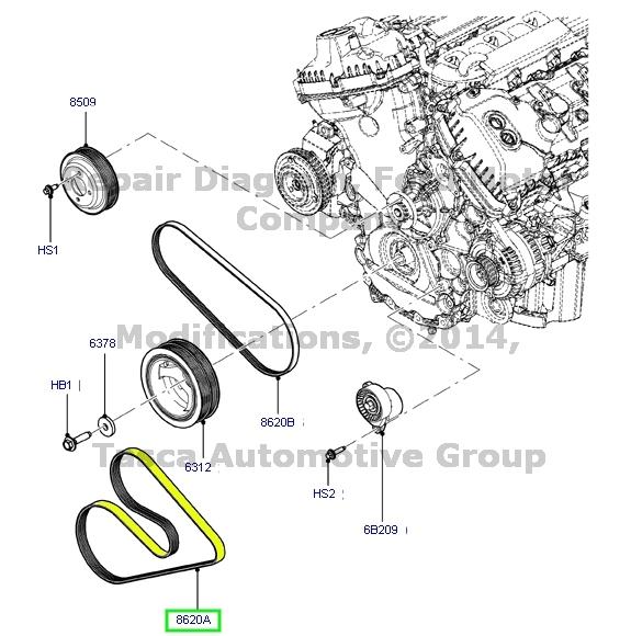BRAND NEW OEM Engine Serpentine Belt 2011-2013 Ford F-150