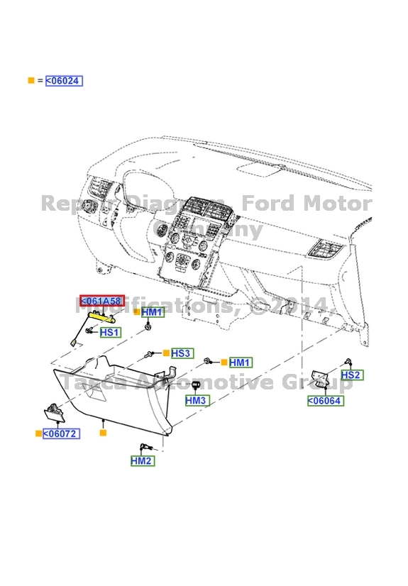 NEW OEM GLOVE BOX DOOR CHECK 2011-2013 FORD EDGE & LINCOLN
