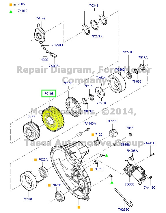 BRAND NEW OEM TRANSFER CASE REAR CLUTCH 2012-2013 FORD