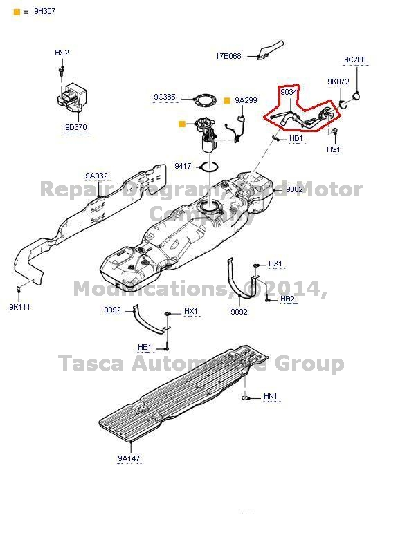 New Genuine Ford OEM Gas Tank Filler Pipe Assembly 2010