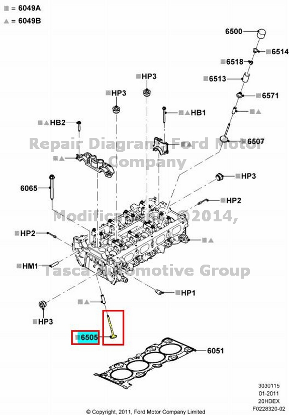 NEW OEM CYLINDER HEAD EXHAUST VALVE 2012-2013 FORD FOCUS 2