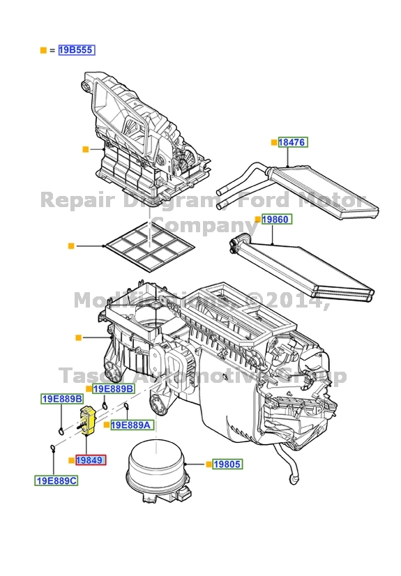 BRAND NEW OEM AC CONTROL VALVE 2012-2013 FORD EDGE LINCOLN