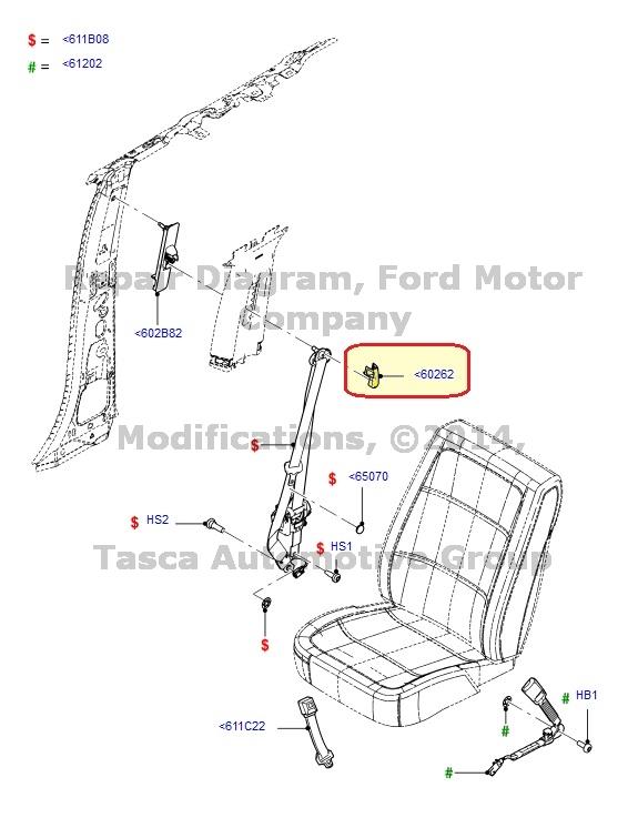 NEW OEM RH OR LH FRONT SEAT BELT ADJUSTER COVER 2013 FORD