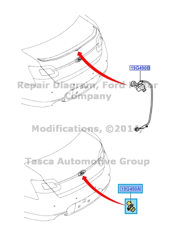 NEW OEM FIXED REAR VIEW BACK UP CAMERA 2013-2014 FORD