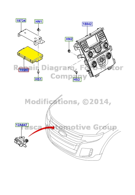 NEW OEM DASHBOARD EATC CONTROLLER UNIT 2013 FORD EDGE