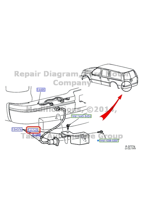 NEW OEM WIRE HARNESS RETAINER 1990-2013 FORD LINCOLN