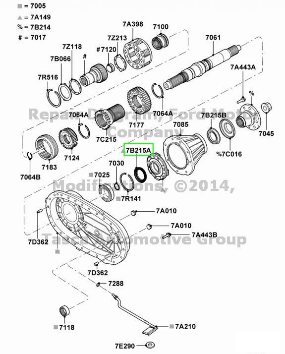 BRAND NEW OEM REAR OIL PUMP SEAL 1999-2013 FORD #EOTZ